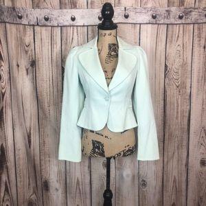 Terri Jon Pale Mint blazer Jacket Size 2